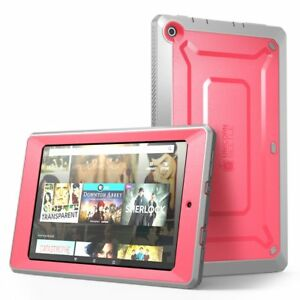 For Amazon Fire HD 8 Tablet 5th Generation Case, SUPCASE Rugged Pink Cover