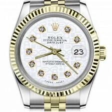 Rolex Oyster Perpetual Datejust Discreet Jubilee Design White Dial with Diamonds