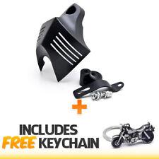 Krator Black Skull Head Horn Cover Stock Cowbell Horns For 2011-2014 Harley Davidson Motorcycles