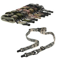 Military Tactical Rifle Single/Dual Point Sling Buckle Adjusable strap Hunting