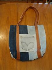 NEW TOTEM Salvaged Denim and Leather Tote