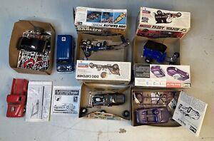 Lot of Vtg Model Kits Junkyard Cars Trucks Van Revell Monogram READ For Parts