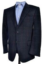 DAKS Current Gray Plaid Check Angora Wool Flannel Blazer Sport Coat Jacket 42 S