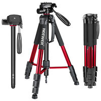 "Neewer Red 70"" Aluminum Alloy Camera Tripod Monopod with 3-Way Swivel Pan Head"