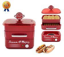 Hot Dog Steamer Sausage Machine Electric Bun Warmer Bread Steam Ham Burger Bake