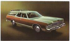 "1973 Mercury MARQUIS COLONY PARK ""Woodie Wagon"" Dlr Promo Postcard UNUSED Ex ^"