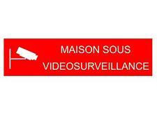 plaque ou etiquette boite aux lettres - MAISON SOUS VIDEOSURVEILLANCE - 100x25mm