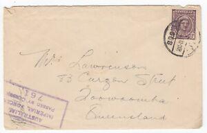 WW2 Australian FPO 42 Using MPO E.608 1943 Atherton Table Lands Censor