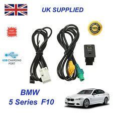 For BMW 5 F10 USB Aux Switch & USB Wire 3.5mm AUX Cable Adapter 3CD 035 249 A