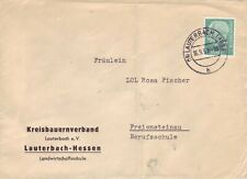 BRD Heuss Brief : Lauterbach 16.09.1958