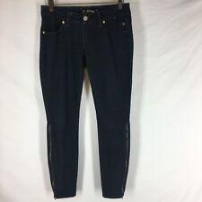 Serfontaine Women's jeans size 27 dark wash slim leg ankle Zip Blue denim