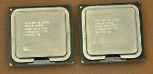 1 Matched Pair (2 CPUs) Intel X5450 3.00Ghz/12M Quad Core Xeon SLASB CPU LGA771