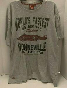Indian Motorcycle Boneville Salt Flats Utah Tee T Shirt Worlds Fastest 35 XL