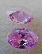 OVAL CUBIC ZIRCONIA LOOSE GEMS - 2 PIECES - 5MM X 7MM - VARIOUS COLOURS