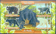 BEARS of the world wild animals fauna 2020 m/s MNH #ML20-69
