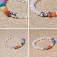 7 Chakra Elephant Charm Perlen Armband Perlen Yoga Energie Armband Schmuck Mode