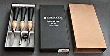 New Rockler 3 Pc Carbide & High Speed Pen Turning Ergonomic Tool Chisel Set 1016