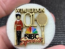 2001 Wimbledon NBC Sports Beautiful Design Vintage Rare Press Pin.