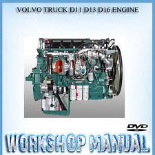 VOLVO TRUCK D11 D13 D16 ENGINE WORKSHOP SERVICE REPAIR MANUAL IN DISC