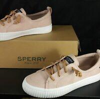 New! Sperry Women's Crest Vibe Creeper Linen Sneaker Rose Size 5.5 M