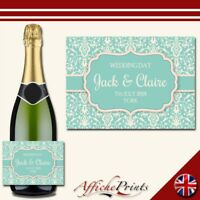 L143 Personalised Wedding Engagement Special Custom Prosecco Bottle Label Gift