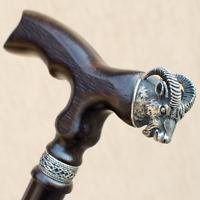 Elegant Aries Wood Walking Canes Stick for Men - Fancy Gothic Men's Wooden Cane