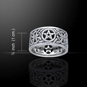 Celtic Knot Pentacle .925 Sterling Silver Ring by Peter Stone Fine Pagan