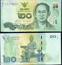 Thailande THAILAND Billet 20 BAHT 2013 VERT NEW NOUVEAU ROI RAMA 9 NEUF UNC