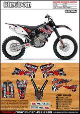KINGDOM Motocross Graphics KTM EXC 2005-2007 DIRT BIKE GRAPHICS BY ENJOY MFG