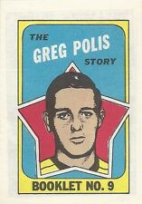 O-PEE-CHEE HOCKEY MINI COMIC BOOKLET 9 GREG POLIS NM