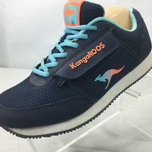 Vintage KANGAROOS Sneakers Sz 8 Leather Shoes Shoes Zipper Pocket