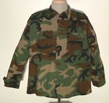 Propper Military Ripstop Woodland Camo Combat Coat Men's L Regular