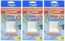 (LOT OF 3) API HOLIDAY PYRAMID VACATION FEEDER 14 DAY FISH. FREE SHIP IN THE USA
