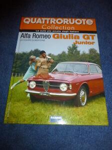 rare book ALFA ROMEO GIULIA GT JUNIOR - 50 pages hard cover