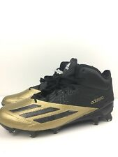low priced 5261d 09492 Adidas Adizero Black Gold High Top 5 Star Footbal Lacrosse Cleats Men 8.5  Q16076