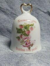 Strawberry Shortcake Knowing You Tickles Me Pink Porcelain Bell 1980 Vintage Jpn
