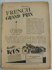 Motor Cycling 19 Aug 1936 Motorcycle Magazine New Imperial TT BSA 3 Wheelers