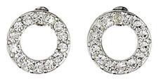Pilgrim Jewellery Hoop Stud Earrings Silver Plated Crystal 61131-6013