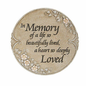 Carson Home Accents Decorative Luminous Garden Memory Stepping Stone/Plaque