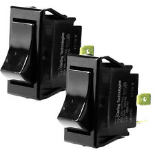 2x CARLING TECHNOLOGIES TIGK721-6S-BL-NBL Rocker Switch,DPST,4 Connections