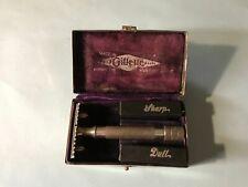 """Vintage Razor--Gillette Single Ring Razor with """"King Gillette Case and Banks"""