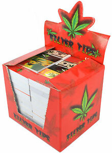 Filter Tips Red Roaches Paper Card Rolling Roach Filter Tip 50 Per Booklet
