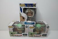 Disney Star Wars Funko Pops Mixed 3 Piece Lot The Child 368 & Aladdin 540