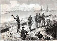 GAETA: Francesco II, Re di Napoli,Esamina Posizioni Piemontesi.Risorgimento.1861