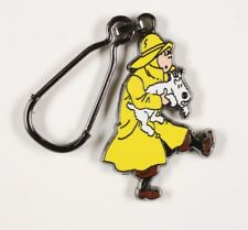 Porte-clé métal Tintin Tintin en imperméable sauve Milou