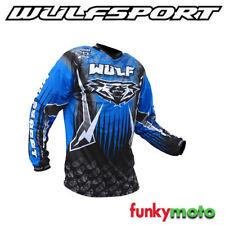 Jersey de motocross color principal azul