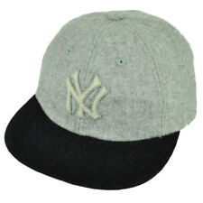 4c2b129cae3a5 MLB American Needle New York Yankees Wool Belt Buckle Flat Bill Relaxed Hat  Cap