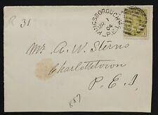 Kingsborough PEI 1904 Registered 92 7¢ + RPO, Prince Edward Island Nice strike!