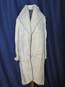 Gorgeous 1920 - 1930's Art Deco Sheared Fur / Off White Flapper Coat SM