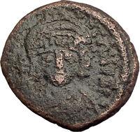 TIBERIUS II CONSTANTINE Constantinople Half Follis Ancient Byzantine Coin i62572